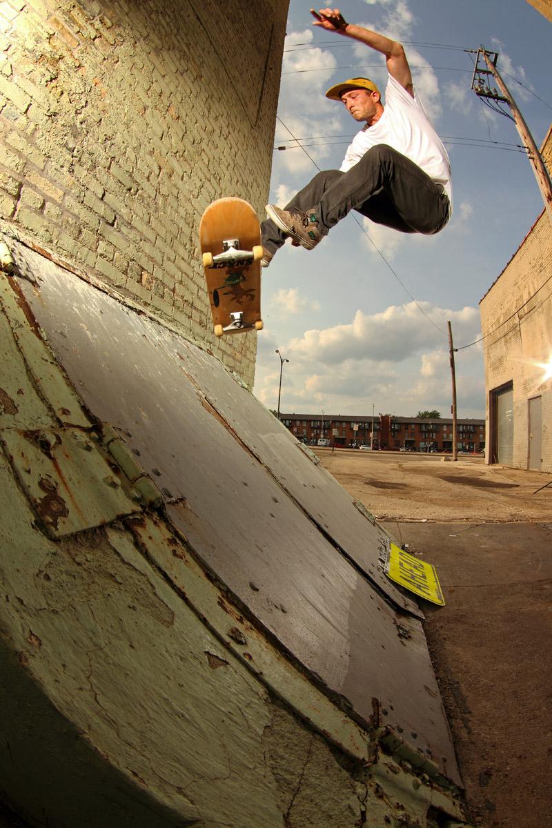 Drew Rickaby, 360 Flip Fakie