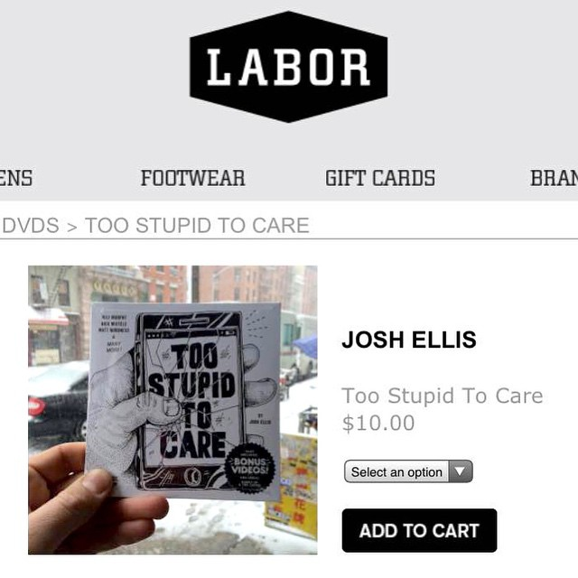 """Too impatient to wait?  Buy a DVD of our new skate video """"Too Stupid to Care"""" online at laborskateshop.com right now for just $10!! It also includes our last two videos """"VHS"""" and """"Hurry Up and Try"""" for free!! @laborskateshop #wiskate #milwaukeeskateboarding #toostupidtocare"""