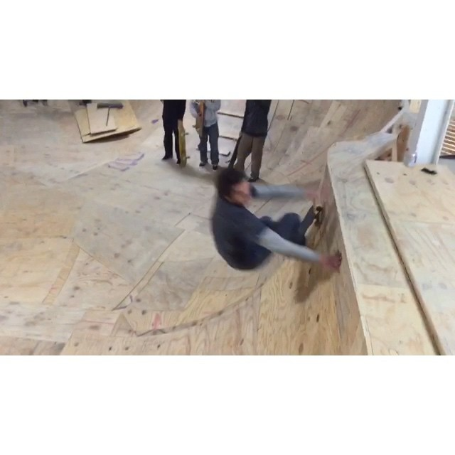 Big happenings at @creamcity !! Mega high fives to @goatramp @brewce_cruz @tylerkpaulson @jmnjay for the masterful techniques and crazy hard work!  You dudes are maniacs!! Here's @patboyles @hankstagramofficial @brewce_cruz trying out some of the brand new angles n curves.