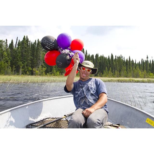 My guy Tee gettin' festive on the boat.  @_toohighty #seseganaga