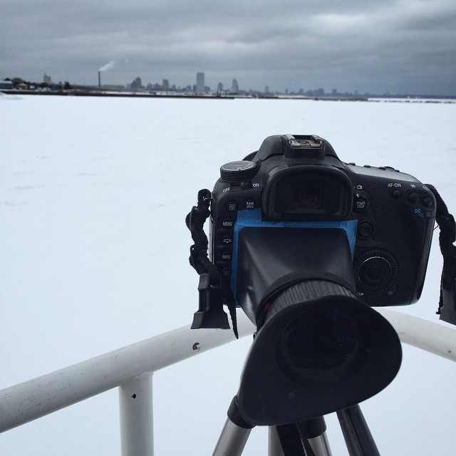 Making film of that ever imposing Milwaukee skyline.  #skart