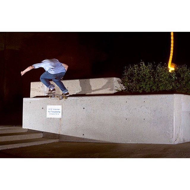 A young Bman accomplishes a frontside noseslide to fakie.  @bman @naughtiernordy